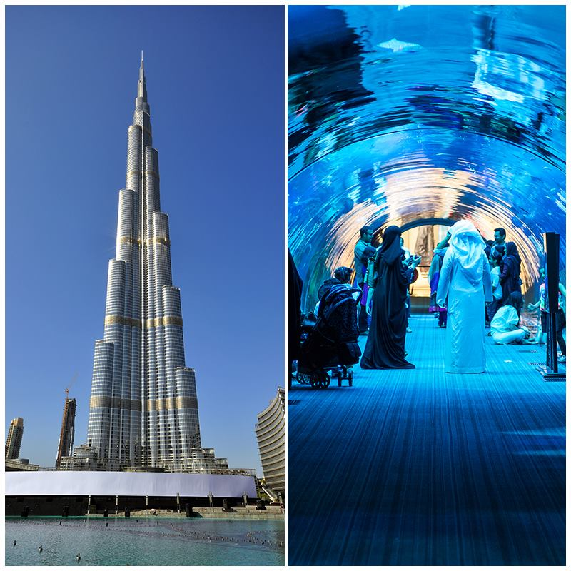 Dubai Aquarium and Burj Khalifa