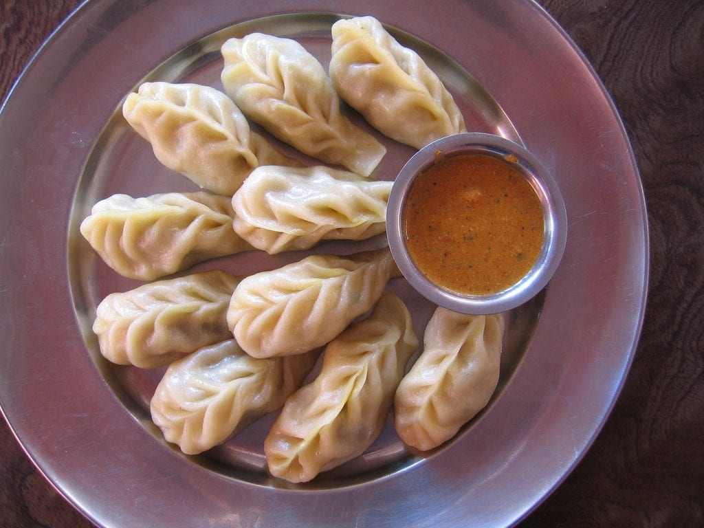 Chicken momos. Picture courtesy: Wikimedia