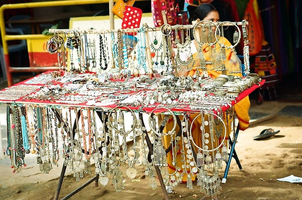Banjara jewellery at the market area near Virupaksha Temple.