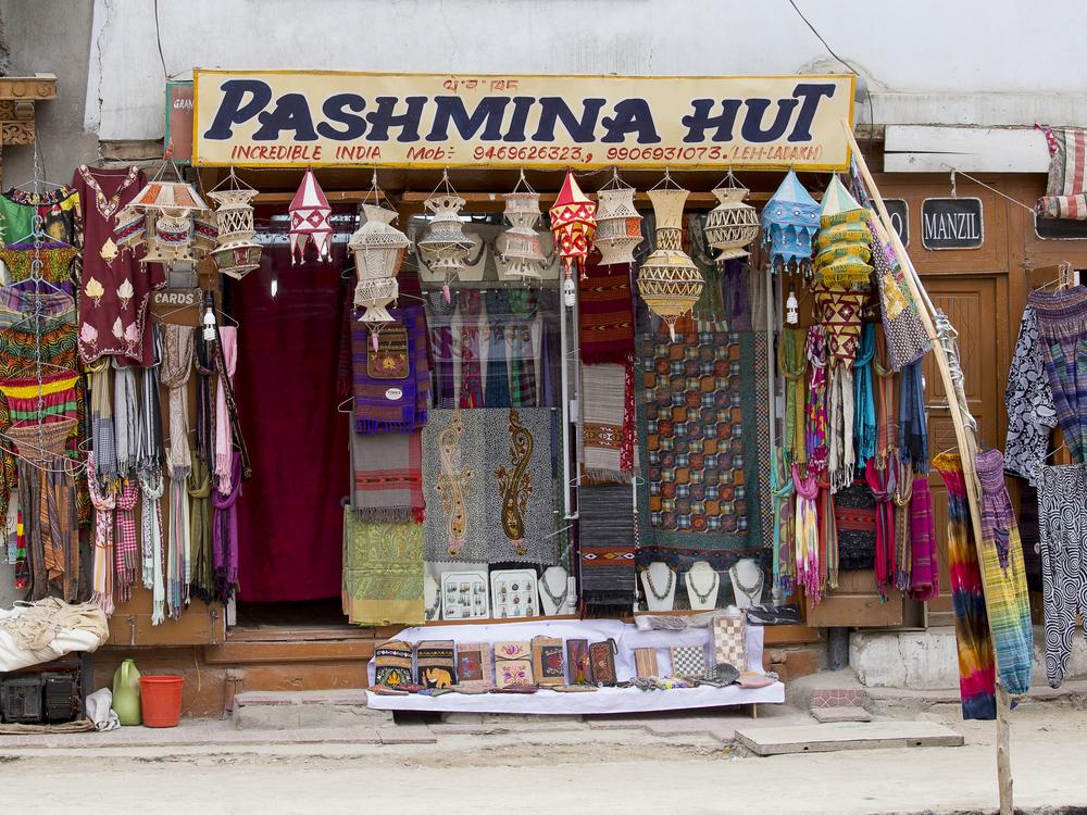 Pashmina Shawls at Leh Main Market