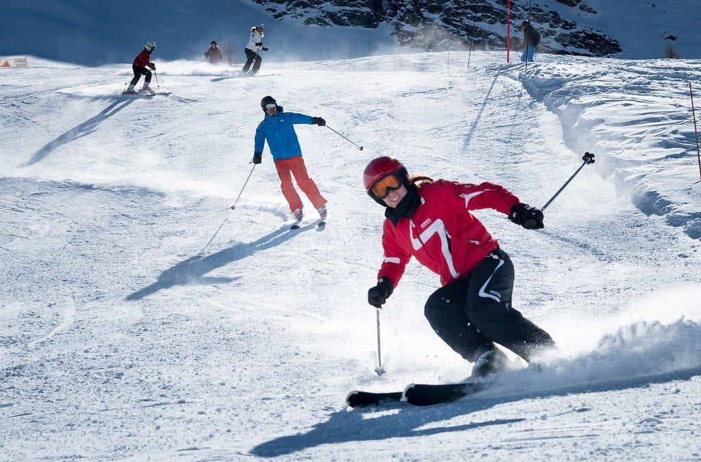 Skiing in Auli