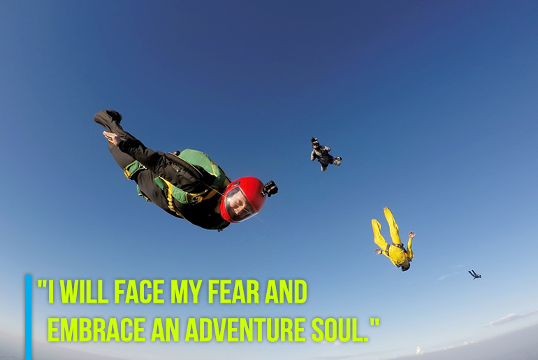 "Travel Resolution - ""2. I will face my fear and embrace an adventure soul."""