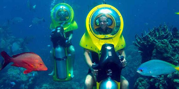 Under Water Scooter, Mauritius