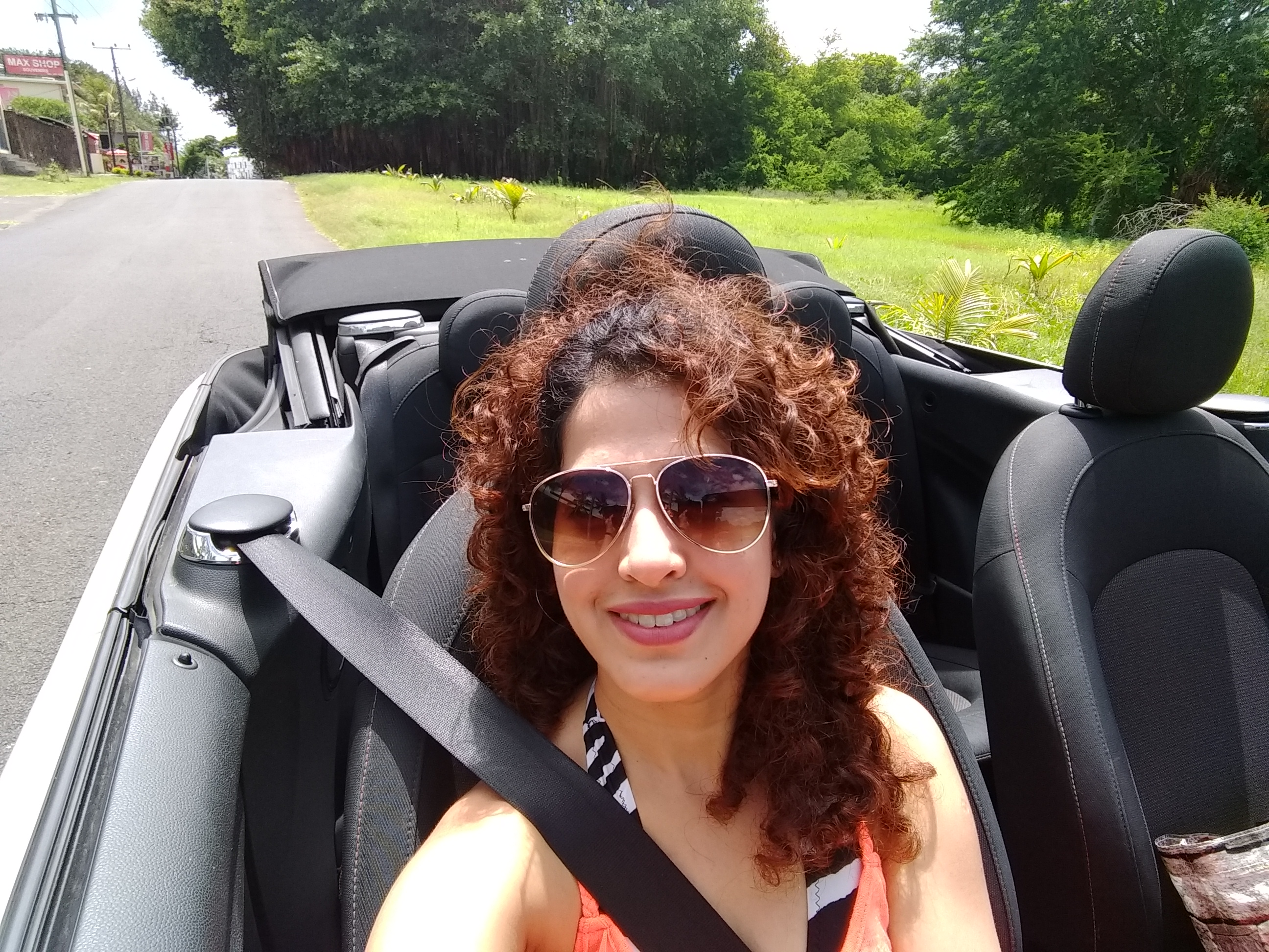 Driving around in Mauritius