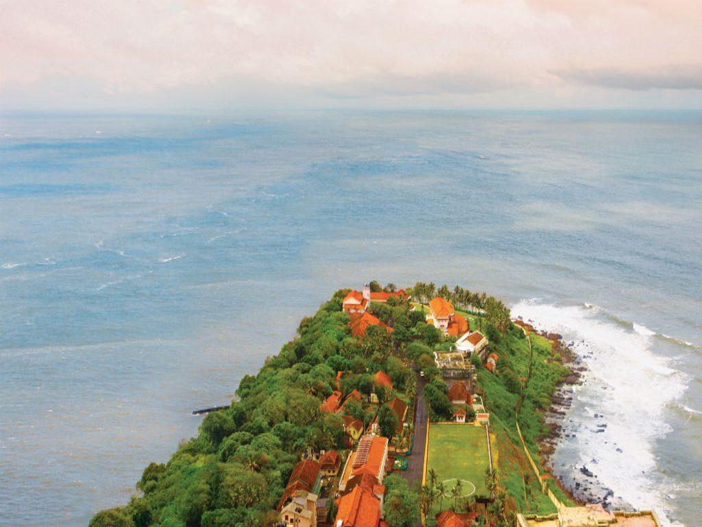 An Aerial Capture of the Spectacular Raj Bhavan, Mumbai