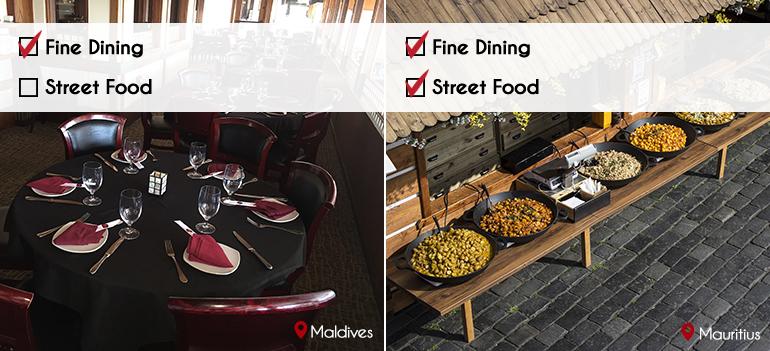 Food: Mauritius VS Maldives