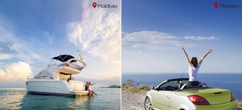 Rent a transport : Maldives vs Mauritius