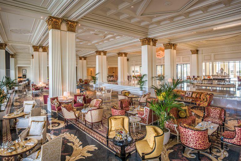 The lobby of Palazzo Versace Dubai