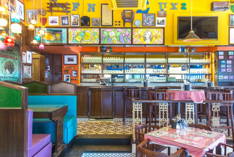 Colourful Interiors at SodaBottleOpenerWala