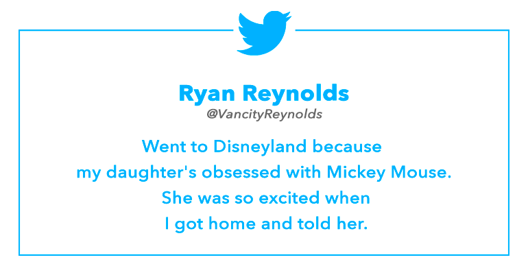 Tweet by Ryan Reynolds