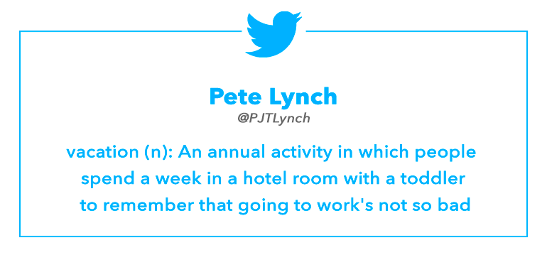 Tweet by Pete Lynch