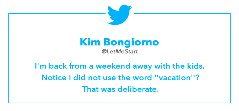 Tweet By Kim Bongiorno