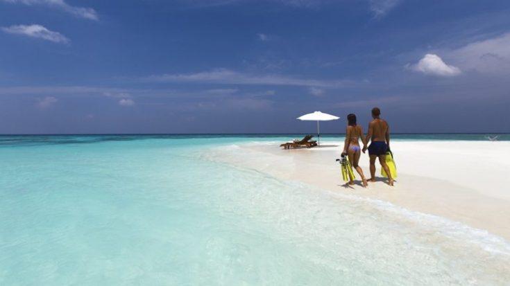 Vacation White Sand Beach Couple Travel Romance