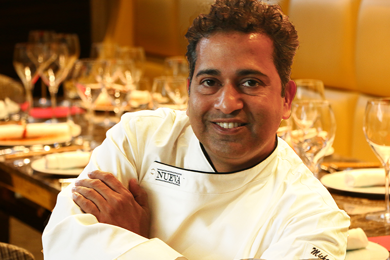 Chef Michael Swamy at NUEVA