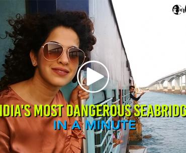 A Thrill Ride Over India's Oldest & Most Dangerous Seabridge, Pamban Bridge