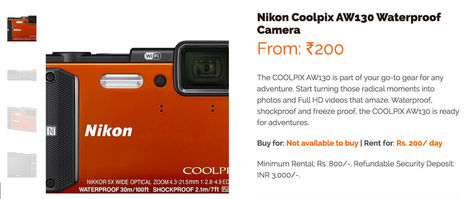 Nikon Coolpix AW130 Waterproof Camera