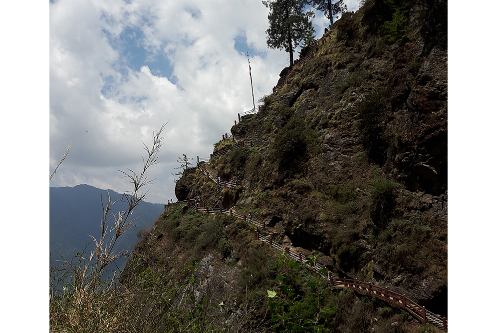 Steps leading to Tigers Nest