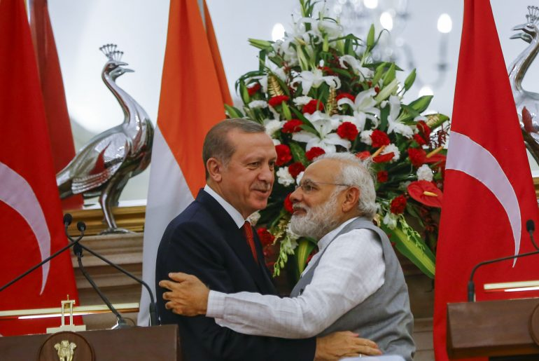 Turkish President Recep Tayyip Erdogan in India