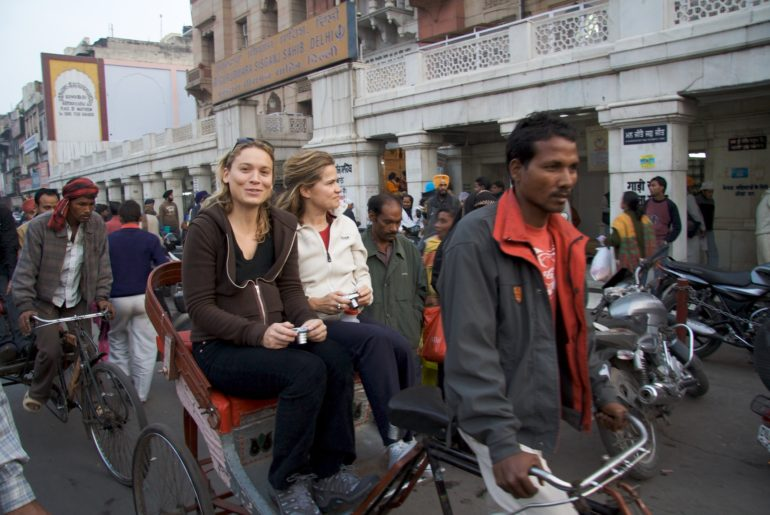 Rickshaw ride down Chandni Chowk, Old Delhi