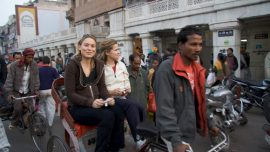 Rickshaw ride down Chandni Chowk, Old Delhi