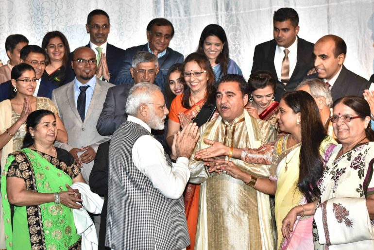 The Prime Minister, Shri Narendra Modi in an interaction with the Indian community, in Mozambique on July 07, 2016.