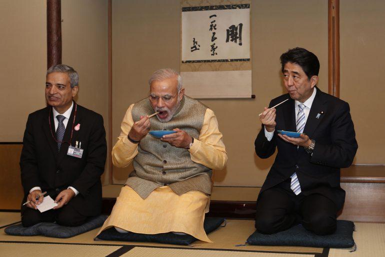 JAPAN-INDIA-DIPLOMACY