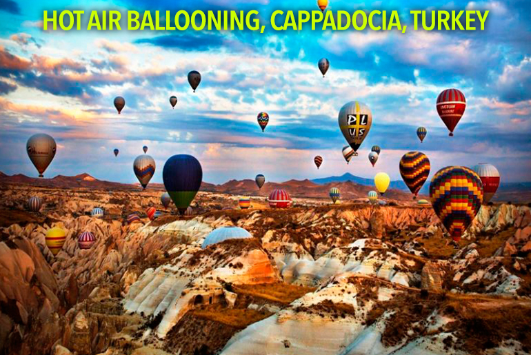 Hot-Air-Ballooning,-Cappadocia,-Turkey