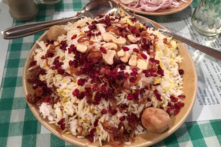 berry pulav at britannia