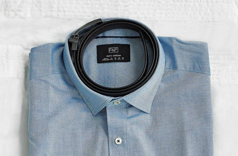 shirt collar_packing_ belt