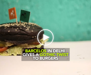 Barcelos In Delhi Welcomes The 'Goth' Trend With Black Burger!