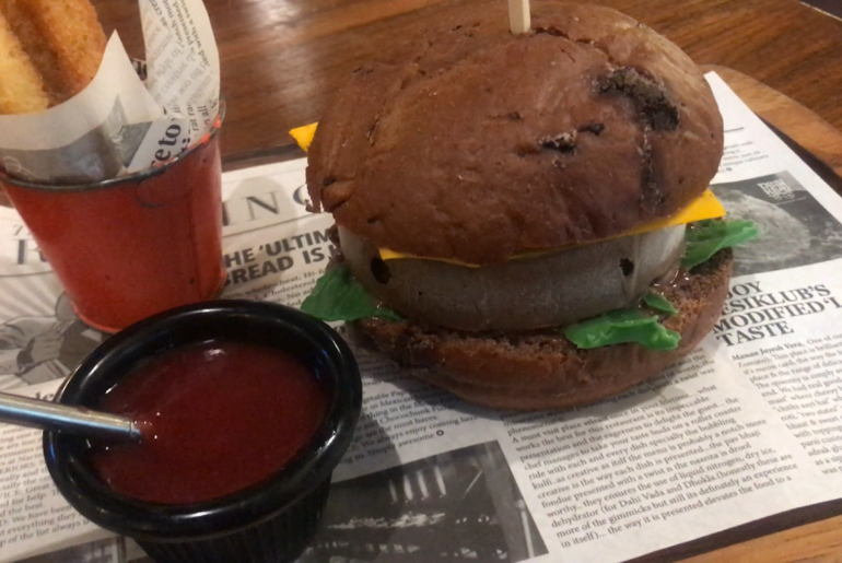Ice-cream burger