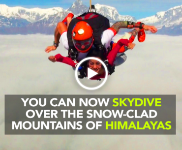 Skydive Over The Snow Clad Mountains Of Himalayas In Nepal This November
