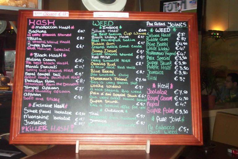 coffeeshop menus