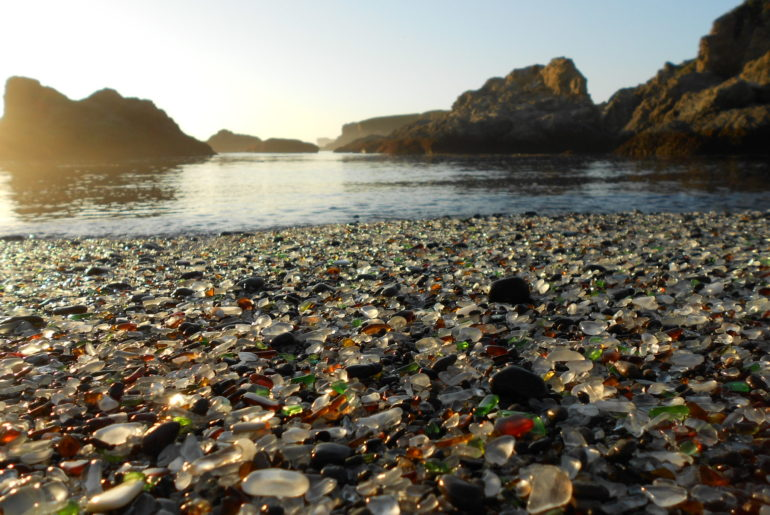 Glass Beach in USA