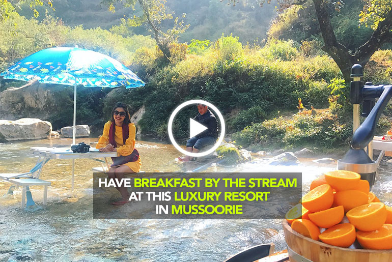 Have Breakfast By The Stream At The Queen Of Hills Put Together By