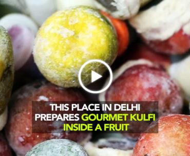 Kuremal Mohanlal Kulfi In Delhi Makes Kulfis Inside A Whole Fruit