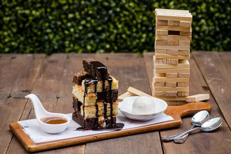 Chocolate Jenga Tower