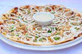 Cheese burst pizza dosa