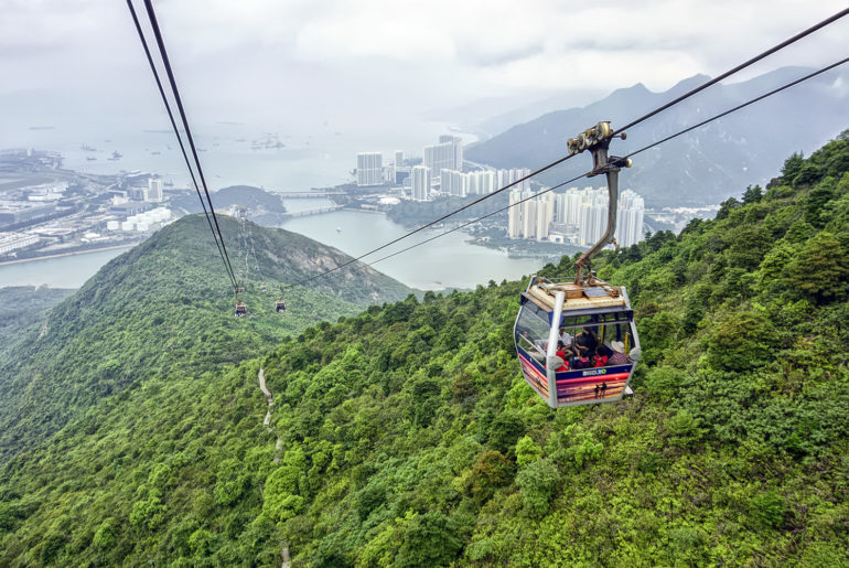 Flying High, Literally In This Crystal Cable Car Ride To Big Buddha