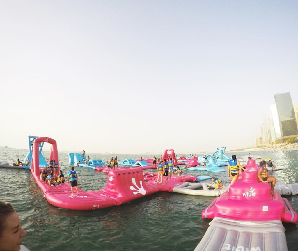 Inflatable Water Slide Dubai: AquaPark, The World's Biggest Inflatable Park In Dubai Is