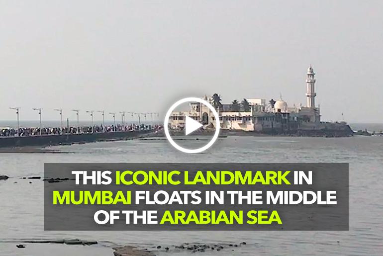 Haji Ali Dargarh In Mumbai Is A Landmark Floating In The Middle Of The Sea
