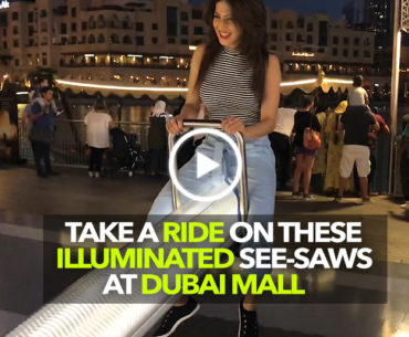 Illuminated & Musical See-Saws Have Arrived At This Dubai Mall