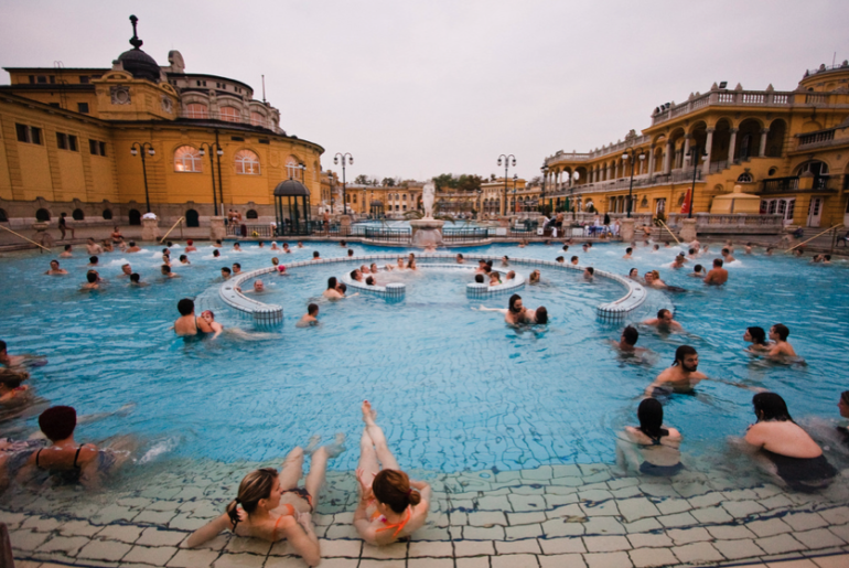 Szechenyi-Baths-outdoor-pools
