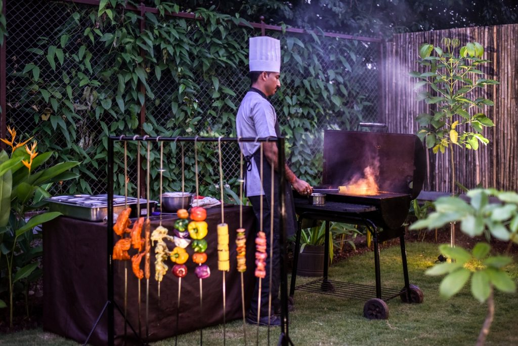Live Barbecue at U Tropicana Luxury Villas, Alibaug