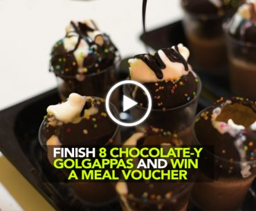 Finish These 8 Chocolate Gol Gappas & Win An Unlimited Meal Voucher In Delhi