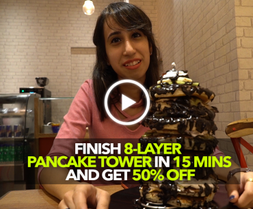 Indulge In This 8-Layer Pancake Tower And Win 50% Off On Your Bill!