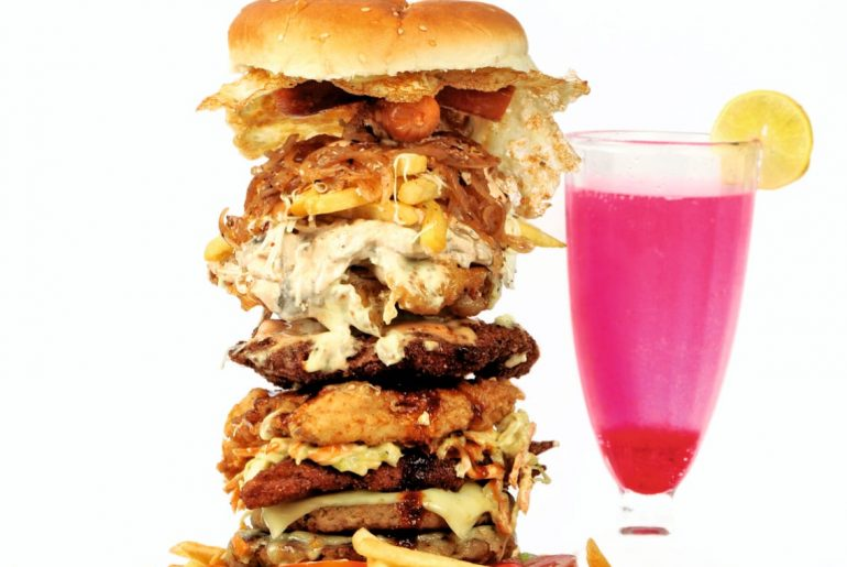 Indulge In This Massive Wtf Burger At Burger Barn In Pune