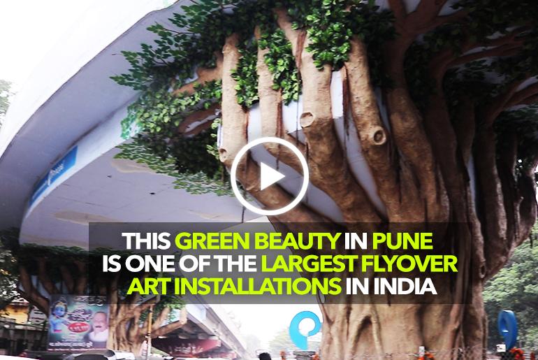 This Bridge In Pune Has The Largest Art Installation In India