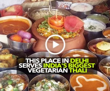 Kutumb Restaurant In Delhi Serves The Biggest Vegetarian Thali In India