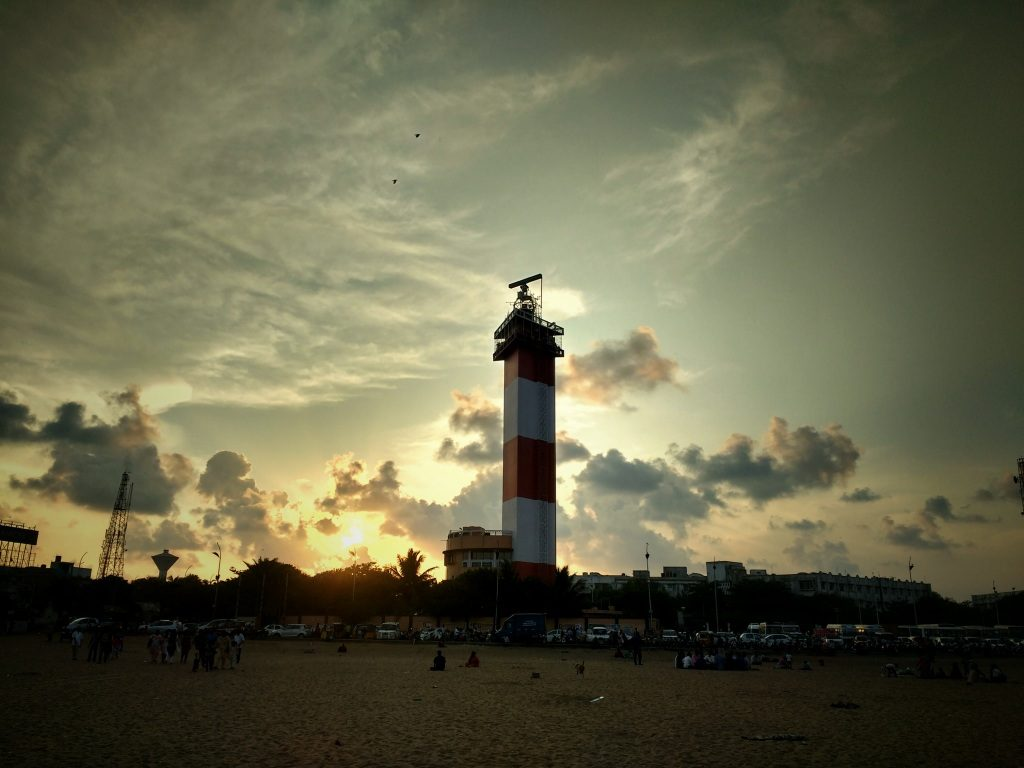 Lighthouse by Marina Beach